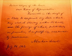 #WhatAPresidentLooksLike Lincoln's proposal to compensate states for freeing slaves. #DCHistcon