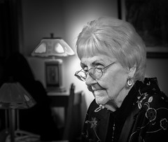 Doris 2 (Mark Polson) Tags: bw doris blackandwhite contrast old portrait wisdom d7100 nikon glow grace low key