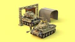 Tigers in Afrika (C.Ngoc) Tags: tiger ww2 german tanks lego military
