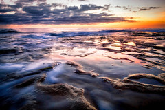 Sunset in La Jolla (Amazing Aperture Photography) Tags: tide pacific pacificocean longexposure lajolla tidepools lajollatidepools sandiego california coast westcoast colors vibrant colorful beautiful travel destination explore wanderlust rockformations sony sonya6000 rokinon