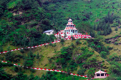Hanogi Mata Temple, Kullu (abhishek.verma55) Tags: temple hanogimatatemple faith kullu mandi himachal valley himalaya travel travelphotography goddess blessing cliff nature hill mountain river greens photography flickr india incredibleindia outdoor outdoors indiatravel red prayer ©abhishekverma canon550d tamron2470 beautiful hinduism beautifulnature colourful colour exploreindia greenery green hills hillside landscape landscapelovers natureisbeautiful path road travelphotos trees devotees