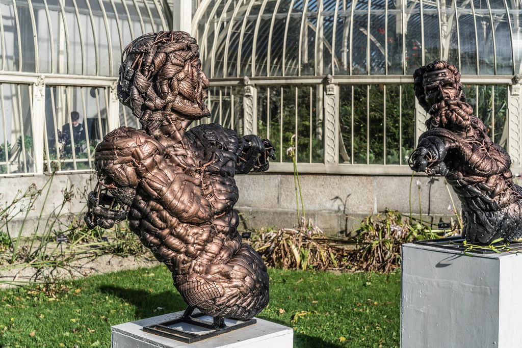 LAST WEEK OF THE SCULPTURE IN CONTEXT 2017 EXHIBITION [PHOTOGRAPHED THE DAY AFTER STORM OPHELIA]-133324