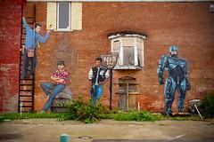 Detroit's Finest (piecesofdetroit) Tags: detroitgraffiti detroit graffiti street art streetart graffitiart graffitiwriters motorcity piecesofdetroit germanfriday friday leicat killthematador thegermanfriday magnumpi timtaylor axlfoley robocop