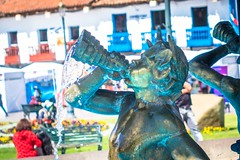 The fountain at the plaza de armas in Cusco.
