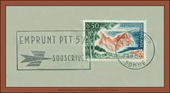 19649618 France Emprunt PTT Souscrivez PTT 5%  Amiens R. P. Somme  5933 M  Album Postmarks Timbre de 1963  Cote d'Azur Varoise (Morton1905) Tags: amiens 19649618 france emprunt ptt souscrivez r p somme 5933 m album postmarks timbre de 1963 cote dazur varoise