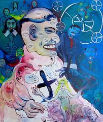 ALBERT (Claude Bolduc) Tags: artsingulier outsidertart artbrut lowbrow intuitiveart visionaryart horsnorme rawart selftaugh monk