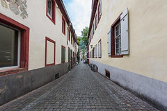 Picturesque street of Heidelberg, Germany (Sebas Adrover) Tags: germany street heidelberg architecture quietplace europe building wuerttemberg ancient european shadow house landmark outdoor spring wurttemberg historical travel city karlsruhe shops bicycle style green tight shoppingmall town transport business sightseeing hill oldtown touristic redandgreenbuilding baden buildings heritage german picturesque historic shade tourism narrow cityscape state old summer badenwürttemberg alemania de