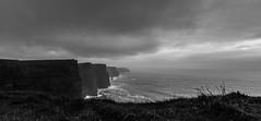 Cliffs Of Moher (AbbasiAli) Tags: ireland dublin cliffs cliffsofmoher blackwhite bw canon westireland tokina rain autumn fall weather roadtrip travel seagulls sea coast alantic ocean wildatlanticway clare county