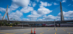 2017 - Boston - Lenord P. Zakim Bridge (Ted's photos - For Me & You) Tags: 2017 boston cropped nikon nikond750 nikonfx tedmcgrath tedsphotos usa vignetting bridge suspensionbridge lennyzakim lennyzakimboston lennyzakimbridge leonardpzakimbunkerhillmemorialbridge cablestayedbridge train pylons yellowline wideangle widescreen amtrak northstationboston leonardpzakimbunkerhillmemorialbridgeboston bostonleonardpzakimbunkerhillmemorialbridge bridgetowers