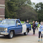 "<b>Homecoming Parade</b><br/> Members of PAC hand out water bottles to parade attendents. Saturday morning the Homecoming Parade commenced. The parade was put on by SAC, Student Activities Council. Photo Taken By: McKendra Heinke Date Taken: 10/7/17<a href=""//farm5.static.flickr.com/4483/37755942521_3820689376_o.jpg"" title=""High res"">∝</a>"