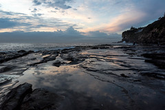 Fractured Reflection (armct) Tags: sunrise tide rockpool reflection sandstone shelf shoreline cliff waves surf dawn morning skyline horizon deewhy sydney australia calm serene photographer