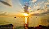 Rays of Light (Francesco Impellizzeri) Tags: sunset clouds panasonic sicilia trapani boats landscape