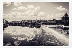 IMG_8063 (Bruno Meyer Photography) Tags: firenze toscana visitfirenze italia arno river skyline architecture sky clouds mirror reflection travel travelphotography photography roadtrip leica leicaimages leicacamera leicadlux5 leicacamerafrance raw edit blackandwhite bw blackandwhitephotography sepia archives 2015