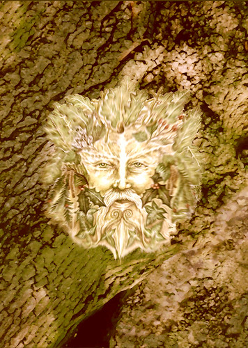 Green Man-Watercolour to Digital