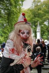 London Zombie Walk 2017 XXVI (Lee Nichols) Tags: londonzombiewalk2017 worldzombieday zombie zombies zombiewalk worldzombiedaylondon2017 people london clown pierott