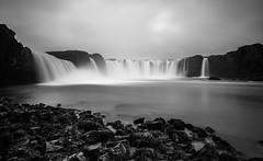 Godafoss B+W (ttrendell) Tags: iceland godafoss waterfall of the gods long exposure canon 5dmk2 1635mm lee filter big stopper neutral density water bw rocks cascade north europe