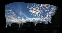 Sky above Dray Walk, London (Marian Si) Tags: europe uk unitedkingdom greatbritain england london sky clouds panorama shoreditch bricklane eastlondon eastend
