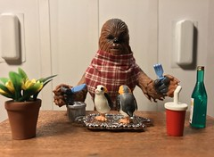 Porgs it's finger licking good. (chevy2who) Tags: inch six series black chewie chewbacca figure action it'sfingerlickinggood dinner porg porgs toyphotography toy wars star