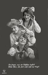 Mein Herr, Sie sind wohl nicht bei Trost- (zimmermann8821) Tags: atelierfotografie bluse damenfrisur damenmode deutscheskaiserreich deutschesreich fotografie frisur haarschleife jungefrau kopfschmuck mannequin mode person postkarte teenager vorführdame