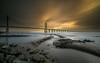 S-Line   [ explore 04|11|2017 ] (marcolemos71) Tags: landscape tagusriver water lowpov pov bridge pier pvg pontevascodagama sky clouds sunrise rain longexposure leefilters lisbon marcolemos