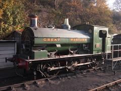 IMG_7857 - GWR Hudswell Clarke Saddle Tank 813 (SVREnthusiast) Tags: severnvalleyrailway svr severnvalley severn valley railway gwrhudswellclarkesaddletank813 gwr hudswellclarke saddletank 813