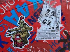 Toronto 2017 (bella.m) Tags: nofun graffiti streetart urbanart toronto canada art tbonez sticker ninja
