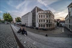 Universitätsplatz (p h o t o . w o r l d s) Tags: hallesaale sachsenanhalt deutschland fischauge fisheye hdr photomatix tonemapping fujixt10 7artisans75mm28 photoworlds