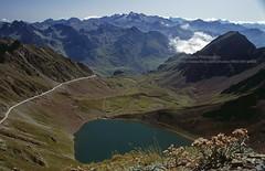 Pic du Midi, view over the Pyrenees (blauepics) Tags: france frankreich pyrenäen pyrenees landschaft landscape berge mountains pic du midi clouds wolken view aussicht lake see water wasser