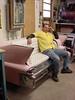 Cadillac Couch (Philsiron) Tags: cadillac couch custom car seat garage shop hot rod schlitz beer singh