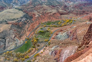 *Capitol Reef @ Fruita from Rim Overlook*