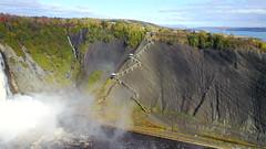DJI_0026-003 (marinetteromico) Tags: roche schist gris escalier chute rivière eau montmorency québec