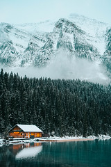 IMG_2560 (Raili Laansalu) Tags: canada banff mountain nature canon sigma lake lakelouise landscape house forest water snow winter