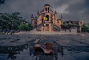 It's a rainy day (Vagelis Pikoulas) Tags: rain rainy raining leaf reflection reflections water church vilia greece afternoon october autumn 2017 architecture canon 6d tokina 1628mm landscape village square perspective