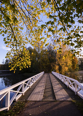 Strömfors bruk (Thomas Gartz) Tags: strömforsinruukki strömforsbruk ruukki bruk ruotsinpyhtää strömfors loviisa lovisa finland scandinavia white bridge autumn fall october 2016 18mm wideangle