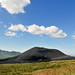 Landscape View OF A Volcao Mountain With Blue Sky_