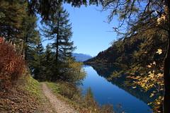 lac de Tzeusier (bulbocode909) Tags: valais suisse lacdetzeusier montagnes nature automne paysages forêts arbres sentiers bleu jaune rouge vert