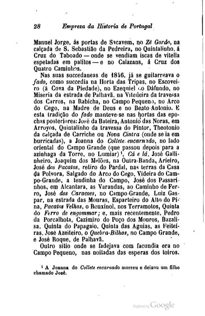 Pinto de Carvalho (Tinop), A Historia do Fado, Lisboa, Empreza da Historia de Portugal, 1903.
