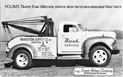 1948 Nash Tow Truck (aldenjewell) Tags: 1948 nash tow truck ernest holmes chattanooga tn tennessee postcard traffic king wrecker
