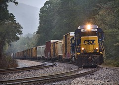 CSX M765-08 at Wildwood, GA (KD Rail Photography) Tags: csx howtomorrowmoves railroads trains transportation georgia mountains mountainrailroading weather rainyweather severeweather roadslug emd gp30 gp402 freighttrains fallseason farmcountry rain electromotivedivision localtrains qualityinmotion