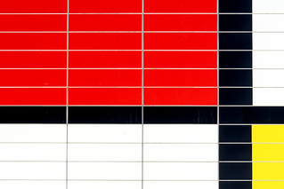 Red, white, black and yellow tiles