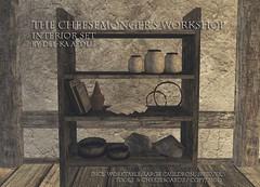Cheesemonger's Shop Interior Set @Genre (nea.narstrom) Tags: craftingseries delkaaedilis cheesemonger medieval rustic vikings torvaldsland north norse