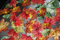 Leaves on a table.....failed weekend project. (cynthiarobb) Tags: