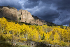 Cimarron Sunset (Aaron Spong Fine Art) Tags: cimarron sunset afternoon light aspen fall colors 2017 san juan owl creek pass october autumn landscape spires spire mountain mountains rockies rocky photography aaron spong western outdoor scenery landscapes