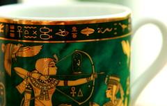 Egyptian Souvenir. (acwills2014) Tags: macromondays themesouvenirs souvenirs coffeecups decorative egyptian egypt