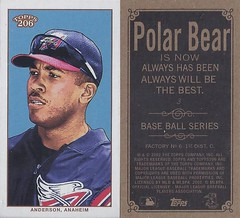 2002 Topps 206 Mini Baseball Card / Series 1 / Polar Bear - GARRET ANDERSON #3 (Outfielder) (California Angels) (Baseball Autographs Football Coins) Tags: series1 series2 series3 2002 2003 topps 206 topps206 baseball polarbear sweetcaporalred sweetcaporalblack cycle carolinabrights blackpiedmont redpiedmont uzit masterset sweetcaporal sweetcaporalblue blue mini card minicard baseballcard 2002topps206 t206 garretanderson californiaangels outfield