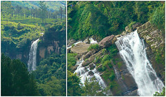 Ramboda Falls - Sri Lanka (Chandana Witharanage) Tags: srilanka southasia rambodafalls waterfall waterfalls falls rocks serene rockformation landscape stream cascade green nature river trees canoneos7d efs18200mmf3556is chandanawitharanagephotography interesting perspective roadtrip2017