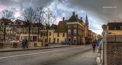 Kijk in 't Jatbrug,Groningen Stad,the Netherlands,Europe (Aheroy) Tags: brug bridge aheroy aheroyal groningen groningenstad tonemapped kijkintjatbrug dark donker street straat streetshot rain
