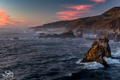 California Sunset (Selkii's Photos) Tags: california coast coastline dusk evening highway1 ocean roads sunset water waves highway