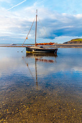 Clear Water Reflections (PRPhoto dot Wales) Tags: canon eos newport parrog pembrokeshire september wales beach bluesky boat boats clouds coast harbour ocean prphotodotwales reflections sand sea seaside water unitedkingdom gb sky bay travel nofilters nothdr lightroom