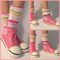 I Love My Pastel Stripes...Short Socks For Blythe...